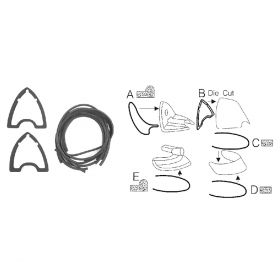 1951 1952 1953 Cadillac Tail Light Lens Gasket Set (10 Pieces) REPRODUCTION Free Shipping In The USA