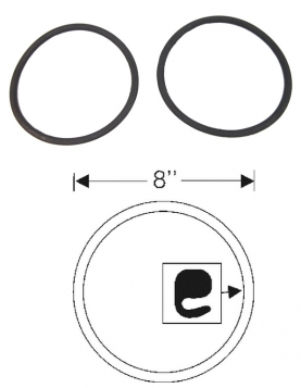 1948 1949 Cadillac Series 75 Limousine Headlight Door to Lens Rubber Gaskets 1 Pair REPRODUCTION Free Shipping In The USA