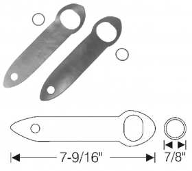 1950 1951 1952 1953 Cadillac Exterior Door Handle Gasket Set (4 Pieces) REPRODUCTION