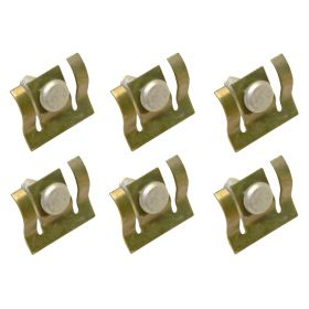 """1959 1960 Cadillac Rocker Panel Clips With 1/4"""" Bolts Set Of Six  REPRODUCTION Free Shipping In The USA (See Details)"""