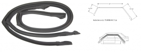 1969 1970 Cadillac Calais and Deville 4-Door Hardtop Roof Rail Weatherstrips 1 Pair REPRODUCTION Free Shipping In The USA