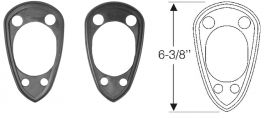1954 1955 1956 Cadillac (See Details) Gasket Rear A/C Scoop Pads 1 Pair  REPRODUCTION Free Shipping In The USA