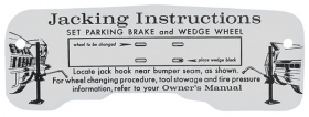 1964 Cadillac Jacking Instructions Decal REPRODUCTION