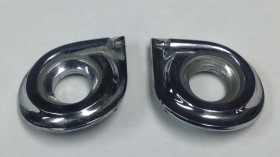 1961 Cadillac Windshield Wiper Bezels USED 1 Pr Free Shipping In The USA