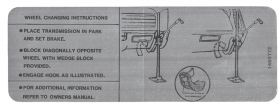 1968 Cadillac Eldorado Jacking Instructions Decal REPRODUCTION
