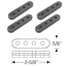 1952 1953 1954 1955 1956 1957 1958 1959 1960 1962 Cadillac Spark Plug Wire Rubber Spacer Set (4 Pieces) REPRODUCTION Free Shipping In The USA