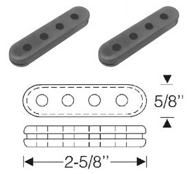 1952 1953 1954 1955 1956 1957 1958 1959 1960 1961 1962 Cadillac Spark Plug Wire Rubber Spacers 1 Pair REPRODUCTION