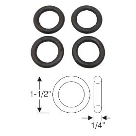 1938 1939 1940 1941 1942 1946 1947 1948 1949 1950 1951 1952 1953 1954 1955 1956 Cadillac Lower Suspension Arm Pin Rubber Bushings Set (4 Pieces) REPRODUCTION Free Shipping In The USA