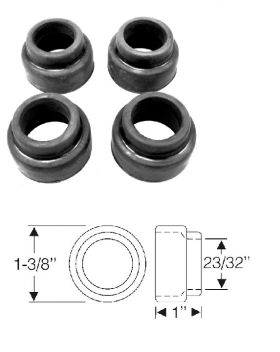 1950 1951 1952 1953 1954 1955 1956 Cadillac Inner And Outer Upper A-Arm Seals (4 Pieces) REPRODUCTION Free Shipping In The USA