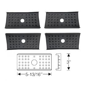 1954 1955 1956 1957 Cadillac Rear Leaf Spring Insulator Pads Set (4 Pieces) REPRODUCTION Free Shipping In The USA