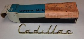 1957 Cadillac Fender Script NOS Free Shipping In The USA
