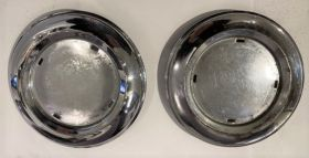1941 Cadillac Fender Skirt Medallions 1 Pair Used Free Shipping In The USA