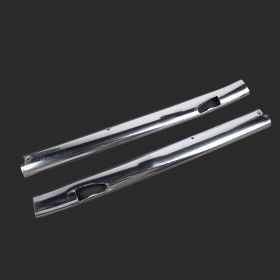1964 Cadillac Convertible Upper Windshield Chrome Molding 1 Pair USED Free Shipping In The USA