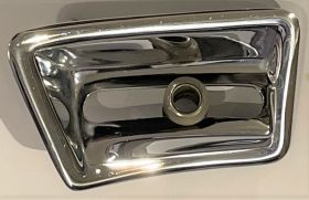 1965 1966 Cadillac  chrome Remote Mirror Escutcheon/bezel Drivers Side Interion USED Free Shipping In The USA