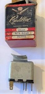 1958 Cadillac Series 60S & 62 -Way Seat Adjuster Motor Relay New Old Stock Free Shipping In The USA