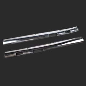 1959 1960 Cadillac (See Details) Chrome Inside Windshield Molding 1 Pair USED Free Shipping In The USA