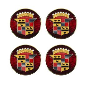 1941 1942 1946 1947 1948 1949 1950 1951 1952 Cadillac Wheel Cover Hub Cap Medallion Set (4 Pieces) REPRODUCTION Free Shipping In The USA
