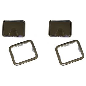 1948 1949 1950 1951 1952 1953 1954 1955 1956 1957 1958 1959 1960 1961 1962 1963 1964 Cadillac Rear Ashtray Insert 1 Pair REPRODUCTION  Free Shipping In The USA