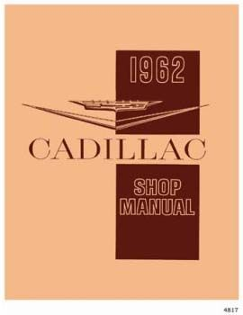 1962 Cadillac All Models Service Manual CD REPRODUCTION Free Shipping In The USA