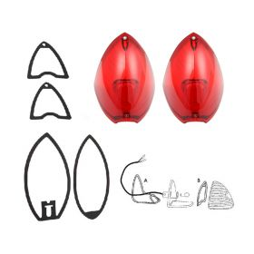 1948 1949 1950 Cadillac (See Details) Tail Light Lenses With Gaskets Set (6 Pieces) REPRODUCTION Free Shipping In The USA
