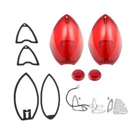 1948 1949 1950 Cadillac (See Details) Tail Light And Reflector Lenses With Gaskets Set (8 Pieces) REPRODUCTION Free Shipping In The USA