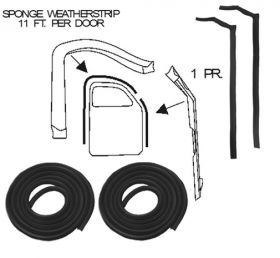 1942 1946 1947 Cadillac Series 62 and 60 Special Front Door Rubber Weatherstrip Set (4 Pieces) REPRODUCTION Free Shipping In The USA
