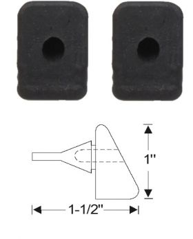 1948 1949 Cadillac (See Details) Fender to Hood Rubber Bumpers 1 Pair REPRODUCTION