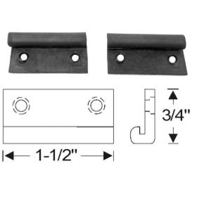 1937 1938 1939 1940 Cadillac Rubber Trunk Bumpers 1 Pair REPRODUCTION Free Shipping In The USA