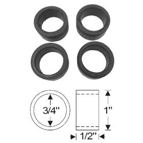 1938 1939 1940 1941 1942 1946 1947 1948 1949 Cadillac Upper Pivot Pin Steering Knuckle Support Rubber Seal Set (4 Pieces) REPRODUCTION Free Shipping In The USA