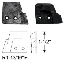 1950 1951 1952  Cadillac Convertible Folding Top Female Hinge Rubber Bumpers 1 Pair REPRODUCTION Free Shipping In The USA
