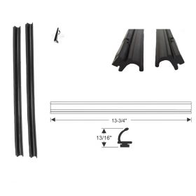 1957 1958 Cadillac Convertible Rear Quarter Window Leading Edge Rubber Weatherstrips 1 Pair REPRODUCTION Free Shipping In The USA