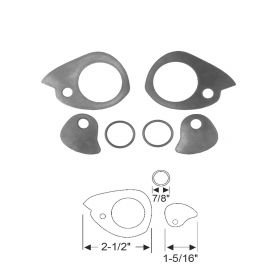 1955 1956 Cadillac 4-Door (See Details) Outside Door Handle Gasket Set (6 Pieces) REPRODUCTION