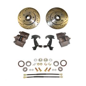 1938 1939 1940 1941 1942 1946 1947 1948 Cadillac Drilled and Slotted Rotor Big Brake Front Disc Brake Conversion Kit (For Rims 19 Inches & Up) NEW