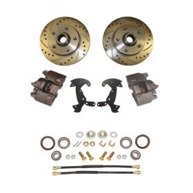 1956 Cadillac Drilled and Slotted Rotor Front Disc Brake Conversion Kit NEW