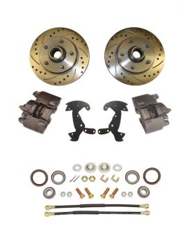 1959 1960 1961 1962 1963 1964 1965 1966 1967 1968 Cadillac Drilled and Slotted Rotor Big Brake Front Disc Brake Conversion Kit (For Rims 19 Inches & Up) NEW