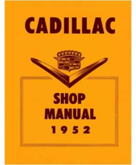 1952 Cadillac Shop Manual REPRODUCTION Free Shipping In The USA
