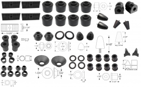 1950 1951 1952 1953 Cadillac Steering and Suspension Rubber Kit (56 Pieces) REPRODUCTION Free Shipping In The USA