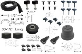 1950 1951 1952 1953 Cadillac (See Details) Under Hood Rubber Kit (31 Pieces) REPRODUCTION Free Shipping in the USA