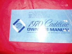 1970 Owner's Manual Original USED Free Shipping In The USA