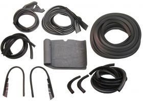 1950 1951 Cadillac (See Details) 4-Door Basic Rubber Weatherstrip Kit (16 Pieces) REPRODUCTION Free Shipping In The USA