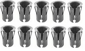 Cadillac Emblem and Script 1/4 Inch Diameter Stud (For 9/32 Inch Holes) Barrel Nut Set (10 Pieces) REPRODUCTION