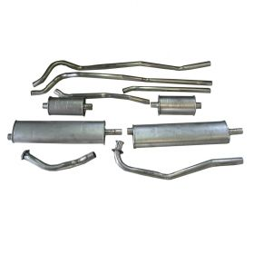 1952 1953 1954 1955 1956 Cadillac (EXCEPT Series 75 Limousine And Commercial Chassis) Aluminized Dual Exhaust System With 4 Mufflers REPRODUCTION