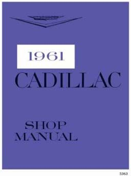 1961 Cadillac All Models Service Manual CD REPRODUCTION Free Shipping In The USA