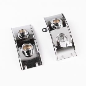 1953 Cadillac Chrome Bezel Dash Bezels 1 Pair Re-Plated/Restored Free Shipping In The USA