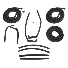1954 1955 1956 Cadillac 2-Door Hardtop Basic Rubber Weatherstrip Kit (11 Pieces) REPRODUCTION Free Shipping In The USA