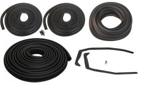1954 Cadillac 4-Door Sedan Basic Rubber Weatherstrip Kit (7 Pieces) REPRODUCTION Free Shipping In The USA