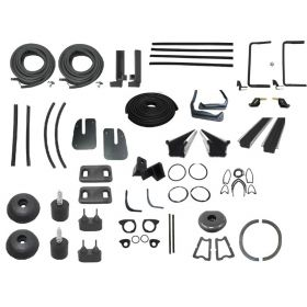 1955 Cadillac 2-Door Hardtop Deluxe Rubber Weatherstrip Kit (62 Pieces) REPRODUCTION Free Shipping In The USA