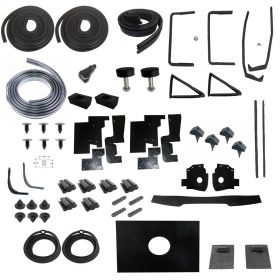 1956 Cadillac Series 62 Sedan Deluxe Rubber Weatherstrip Kit (61 Pieces) REPRODUCTION Free Shipping In The USA