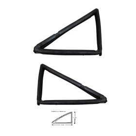 1955 1956 Cadillac 4-Door Series 62 and Series 60 Special Rear Quarter Window Vent Rubber Weatherstrips 1 Pair REPRODUCTION Free Shipping In The USA