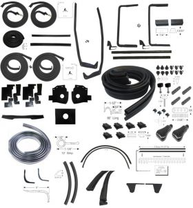 1956 Cadillac Sedan DeVille Deluxe Rubber Weatherstrip Kit (85 Pieces) REPRODUCTION Free Shipping In The USA